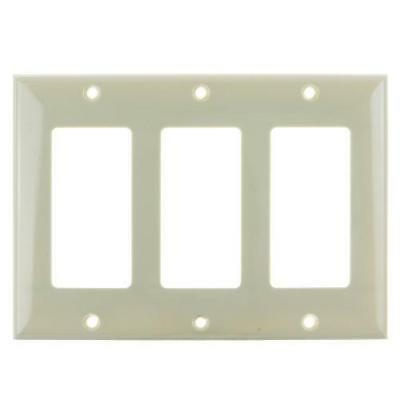 SUNLITE 3 Gang Decorative Plate Ivory Color E303I
