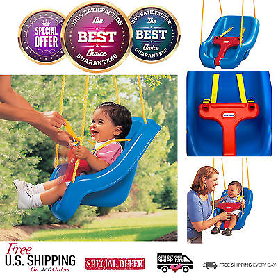 Baby Swing Little Tikes Indoor And Outdoor Toddler Blue 2-in-1 Swing Set Safe Hq