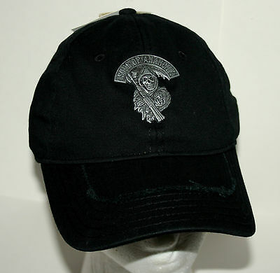 Sons Of Anarchy Prospect Motorcycle Grimm Reaper Baseball Cap Hat New Tags M/L