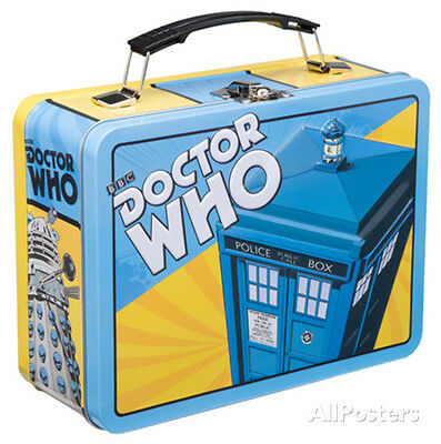 Doctor Who Large Tin Lunch Box Metal Collectible - 9x7.5