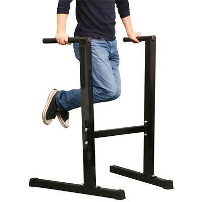Heavy Duty Dip Station Stand Home Gym Trainer Parallel Bar Fitness Workout Black