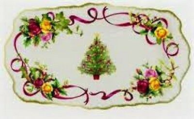 Royal Albert Old Country Roses Christmas Tree Sandwich Serving Tray