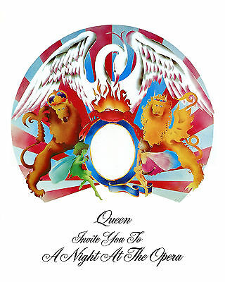 "Queen - Rock Concert Poster 1976 USA ""Night at the Opera ""Tour, 8x10 Color Photo"