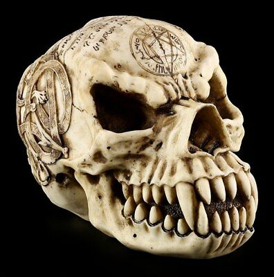 Skull - Werewolf with magischen Symbols - Magic Ritual Figurine skull