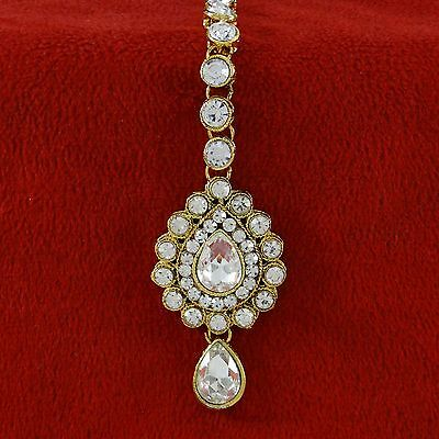 Indian Ethnic Goldplated Designer Bollywood Forehead Maang Tikka Women Jewelry