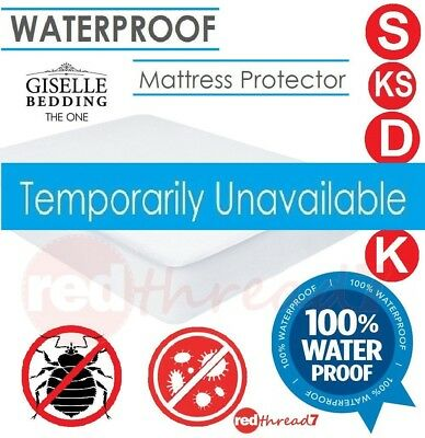 Waterproof Fitted Mattress Protector Cover Underlay Water Proof Bed Sizes Anti-