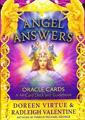 """angel Answers"" By Doreen Virtue & Radleigh Valentine (Oracle Cards)"
