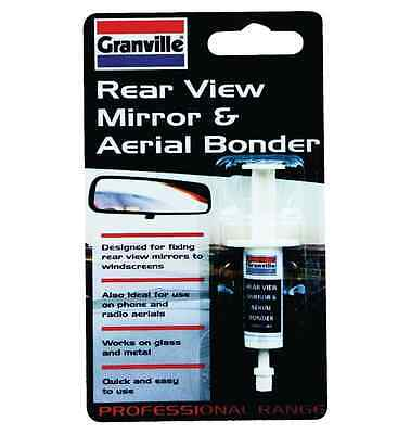 Granville Rear View Mirror & Aerial Bonder Glue Adhesive Metal Glass 2ml