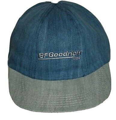 Vintage 1980s BF Goodrich Tire Baseball Blue Jean Snap Back Cap Hat New NOS OSFA