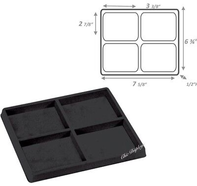 Half Tray Liner 4 Section Insert Drawer Organizer Insert Tray Jewelry Display