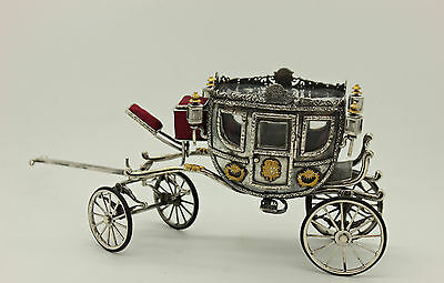Amazing Full Ottoman  Silver Handmade New Sultan Abdulhamids Cars Miniature