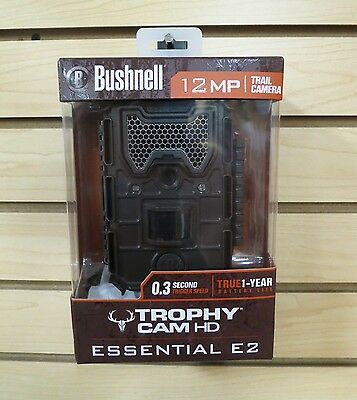 New 2016 Bushnell Trophy Cam Essential E2 HD Scouting Game Trail Camera 119836C