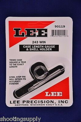 Lee Case Length Gauge & Shell Holder 243 Winchester #90119