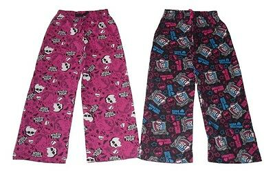 Girls Lounge Pants Pyjamas Bottoms Monster High 7 8 9 10 11 12 & 13 Years