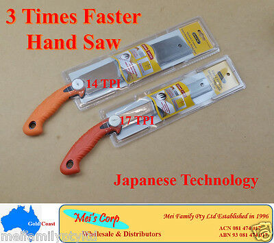 Hand Saw, 3 Times Faster, Fine Crosscut, 17 TPI & 14 TPI, Japanese Technology