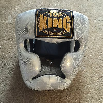 Top King Headgear Leather Snake Print - Small