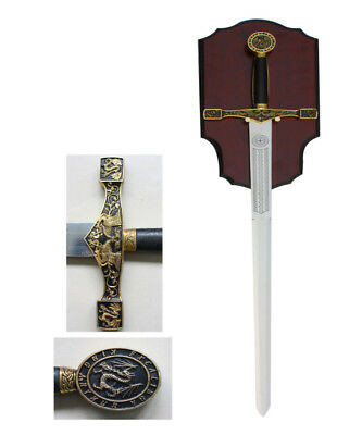 "NEW 45"" Medieval King Arthur Excalibur Golden Sword Round Table Knights"