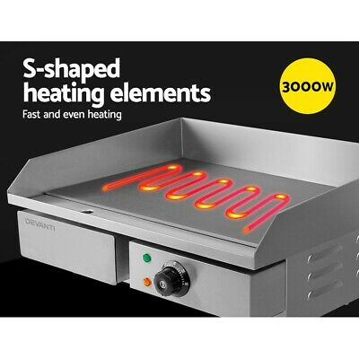 Benchtop Electric Griddle Grill Hot Plate Cooktop Commercial Shop BBQ Cook NEW