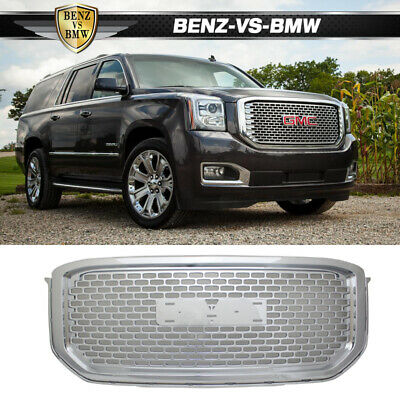 15-16 GMC Yukon XL Mesh Denali Style Up Front Grille Grill Hood ABS Chrome