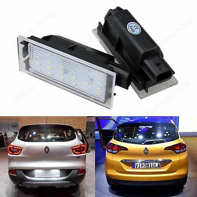Renault Canbus LED License Number Plate Light Clio Laguna Master Megane Twingo