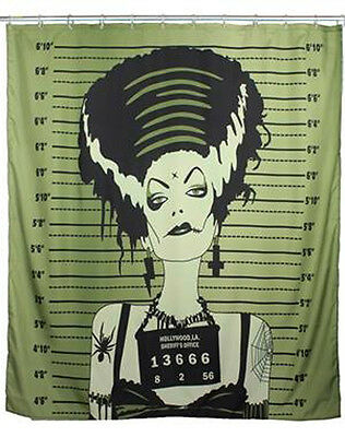 TooFast VINTAGE BRIDE Pin Up Shower Curtain / DUSCHVORHANG Rockabilly