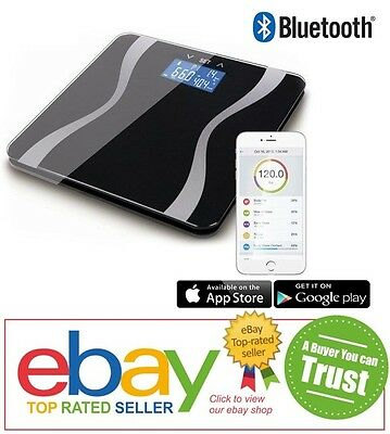 Wireless Bluetooth Full Body Analysing Smart Scales & FREE iOS / Android App. UK
