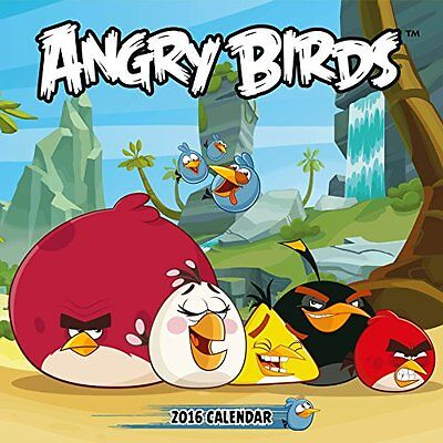 Official Angry Birds 2016 Square Wall Calendar New