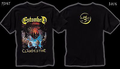 Entombed- Clandestine- Swedish death metal band, T_shirt - SIZES:S to 6XL