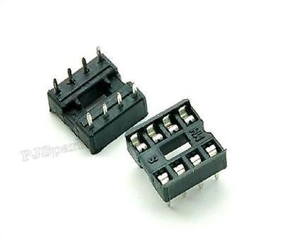 100Pcs 8Pins Dil Socket Pcb Mount Connector 8-Pin Dip New Ic V