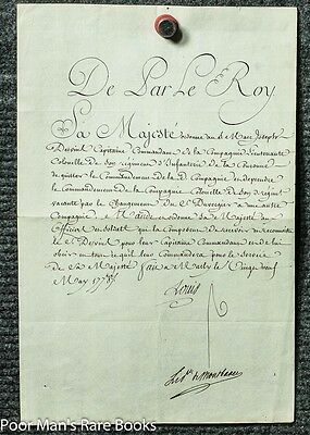 LOUIS XVI, KING OF FRANCE. DOCUMENT SIGNED. CHATEAU DE MARLY, MAY 29, 1787 Docum