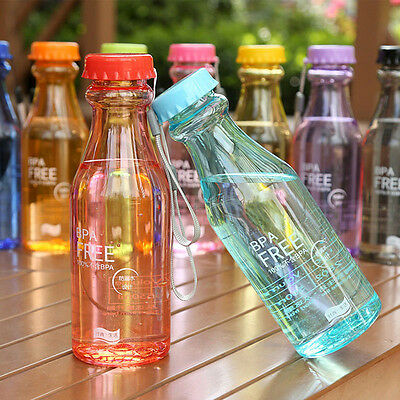 BPA Free Unbreakable Plastic Water Bottle Sports Bicycle Cycling Camping 550ml