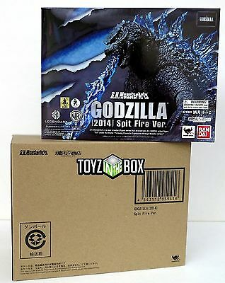 """In STOCK S.H. Monster Arts """"Godzilla"""" 2014 Spitfire Edition Bandai Action Figure"""