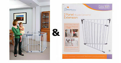 Dreambaby Royal Converta 3 in 1 Baby Playpen & 2 Panel Extension Play pen yard