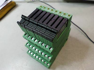 PHOENIX CONTACTS - PLC INTERFACE Bulk Lot of 8 SOLID STATE RELAYS - PLC-BSC-24DC
