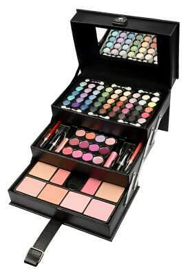 Beauty Case gefüllt 82 tlg. Schminkkoffer Make up Set in Leder Optik