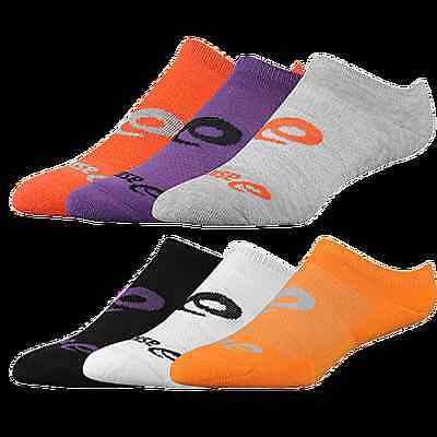 6 x Pairs ASICS Invasion No Show Womens SOCKS - SIZE L BRAND NEW Free Postage