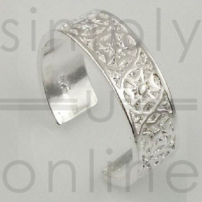 925 Sterling Silver Toe Ring - Maltese Cross