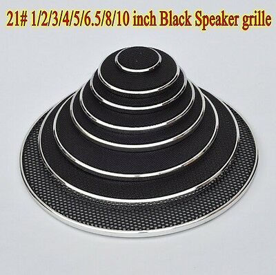 1pcs 21# 1/2/3/4/5/6.5/8/10 inch Black Speaker grill car horn decorative circle