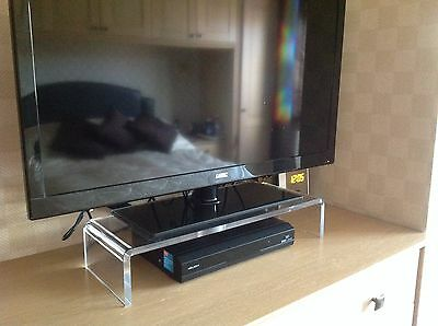 Designer Contemporary Clear Acrylic Perspex Monitor PC TV Stand ( Not Black )