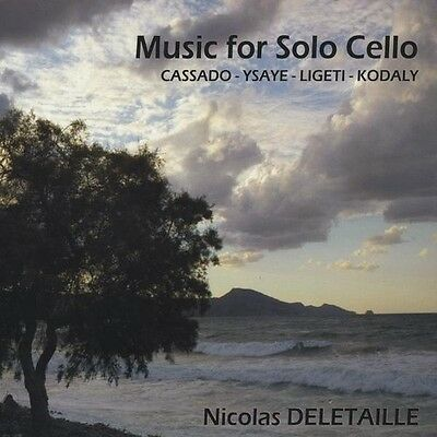Nicolas Deletaille - Music for Solo Cello [New CD]