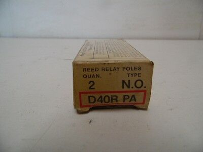 Cutler Hammer D40RPA Reed Relay Poles 2 in Box