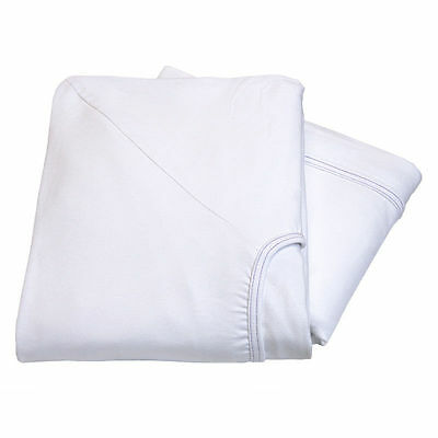 2 new premium white contour twin knitted fitted sheet hospital bed 36x84x16 30oz