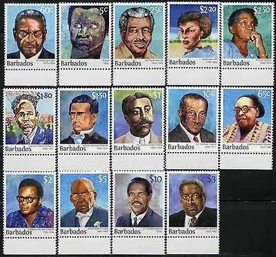 Barbados 2016 Famous Personalities  Set Of Fourteen Mint Nh