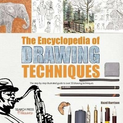 The Encyclopedia of Drawing Techniques by Hazel Harrison Paperback Book (English