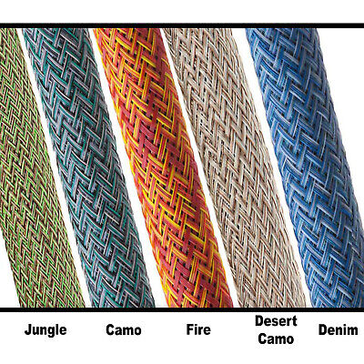 Flexo Remix PET Expandable Braided Sleeving 10FT 25 Feet - Techflex