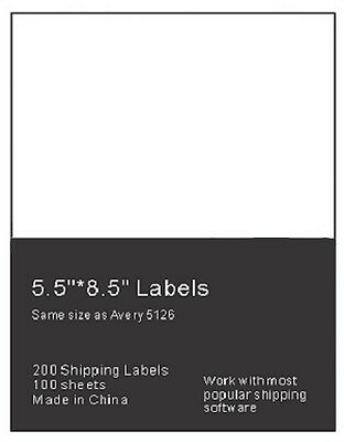 200 Premium Shipping Labels 2 Per Sheet-8.5 x 11-Self Adhesive
