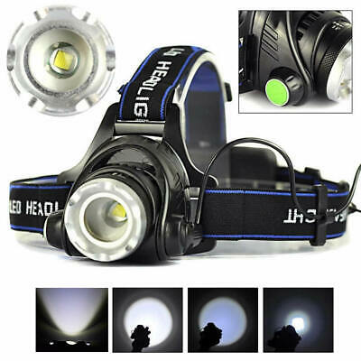 Super Bright 8000LM XML T6 LED Headlamp Headlight 18650 Torch Lamp Hiking 3 Mode