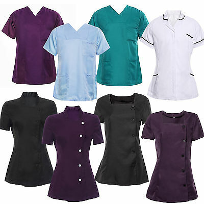 Ladies SPA Beauty Hair Salon Hairdressing Beautician Nail Tunic Black White Blue