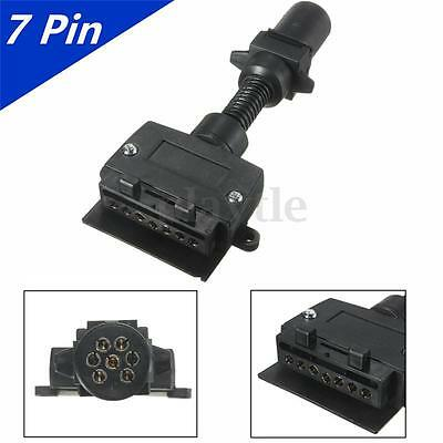 7 PIN Flat&Round Female Trailer Light Plug Connector Socket Caravan Boat Truck