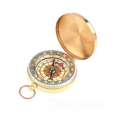 Classic Brass Vintage Pocket Watch Style Camping Compass Hiking Travelling